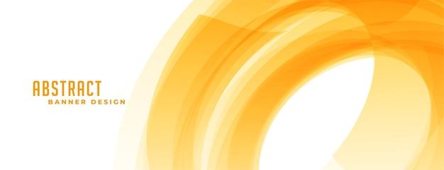 Bandiera gialla astratta nello stile di forma a spirale Vettore gratuito