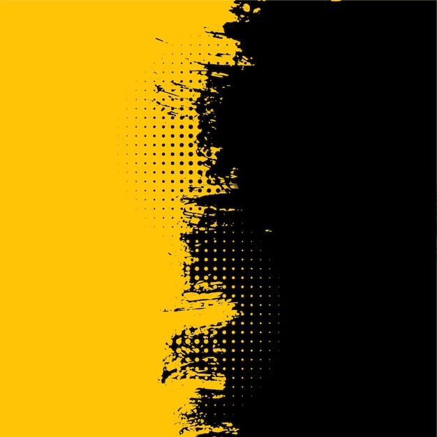 Abstract yellow and black grunge dirty texture background Free Vector