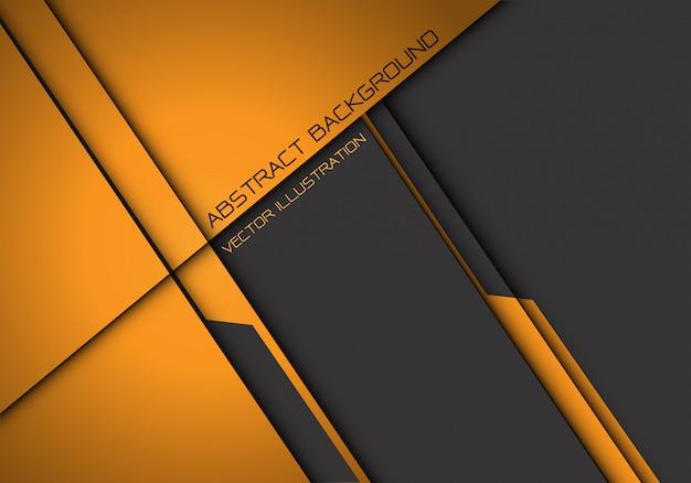 Abstract yellow grey metallic overlap futuristic background Premium Vector