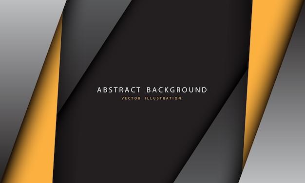 抽象的な黄色灰色の金属の三角形のデザインのモダンで未来的な背景。 Premiumベクター