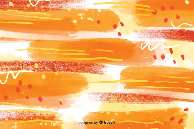Abstract yellow and red brush strokes background Free Vector