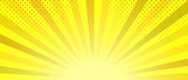 抽象的な黄色の縞模様の背景。 Premiumベクター