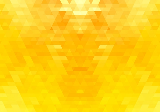 Abstract yellow triangle shapes background Free Vector