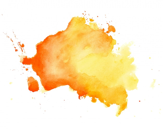 Abstract yellow watercolor hand drawn texture background Free Vector