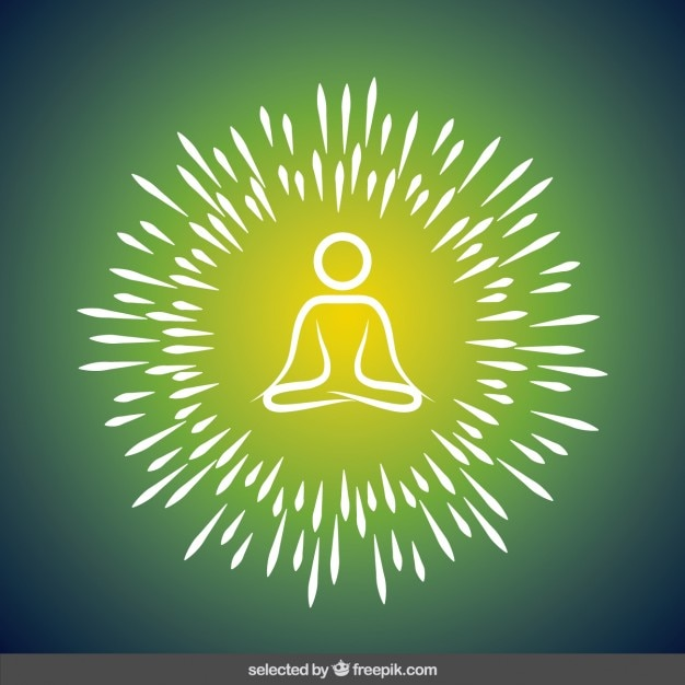 Abstract yoga illustration Free Vector