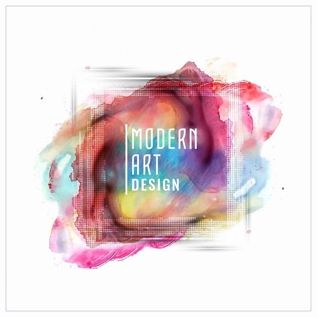 Abstractcolorful watercolor banner design Free Vector