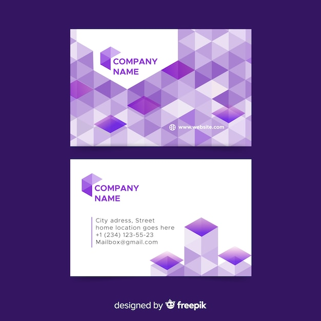 Abstracto geometric business card template Free Vector