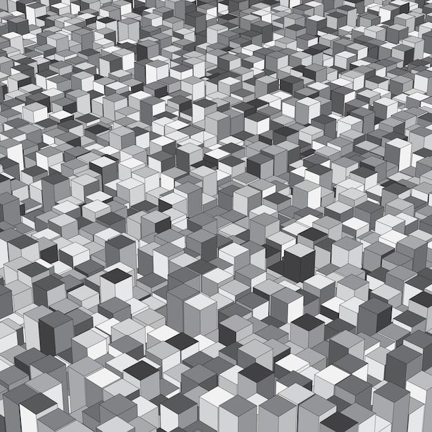 Abstrock sfondo isometrico con cubetti di estrusione Vettore gratuito