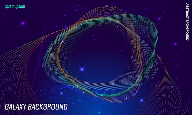 Abtract galaxy background Premium Vector
