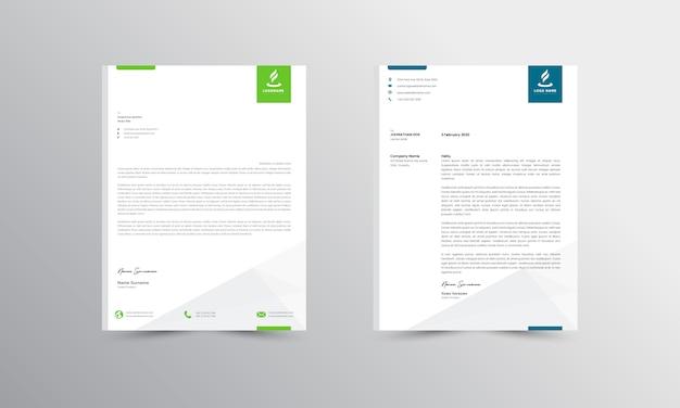 Abtract letterhead design modern business letterhead design template - vector Premium Vector