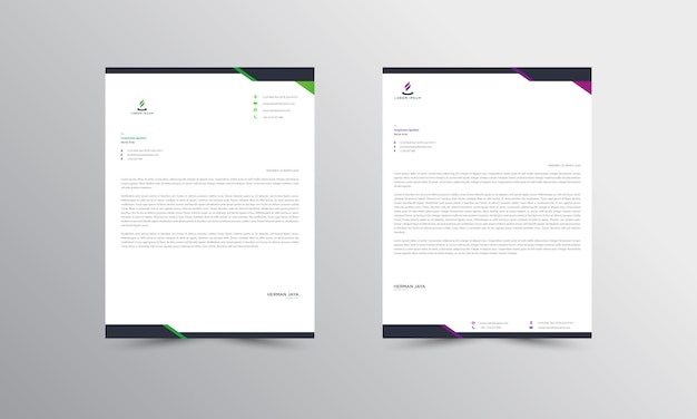 Abtract letterhead  template Premium Vector
