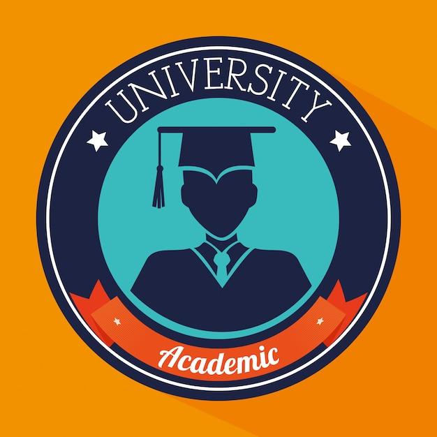 Academic education design. Premium Vector