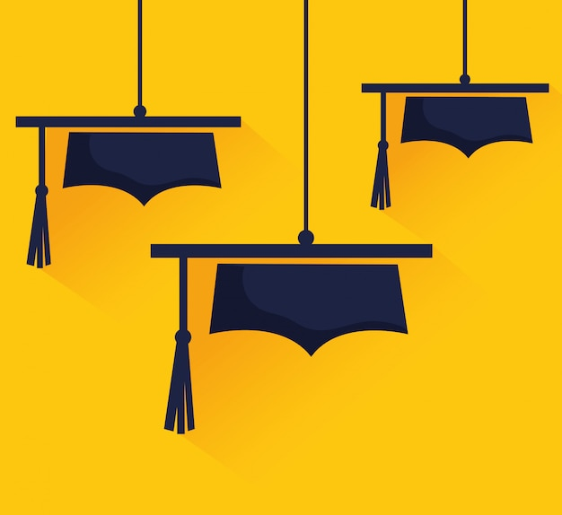 Academic education and elearning Premium Vector