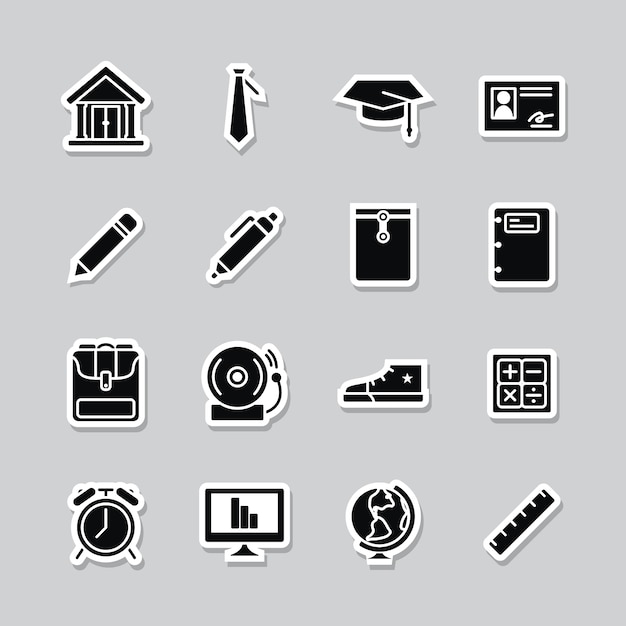 Academic icon collection Free Vector
