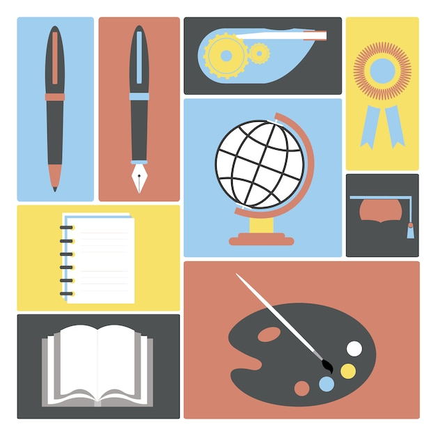Academic Illustrations Collection Vector Free Download
