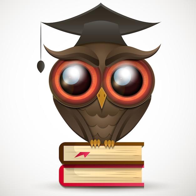 Academic owl vector Premium Vector