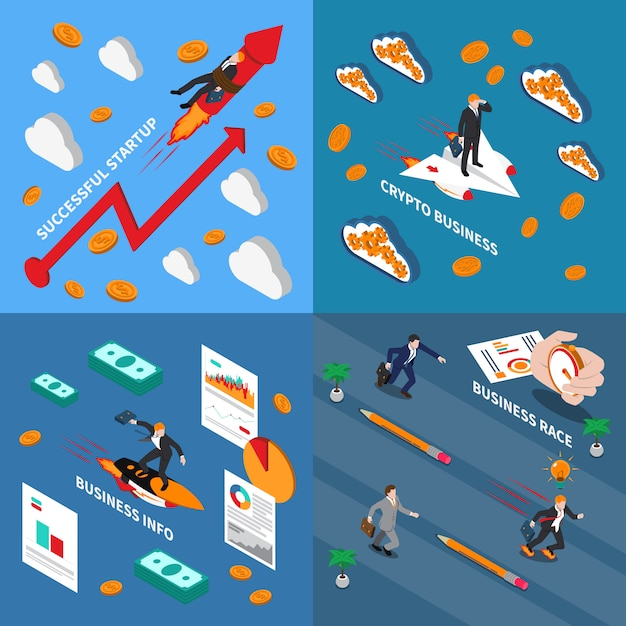 Accelerate business concept illustration Free Vector