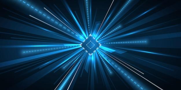 Priorità bassa della luce di movimento di velocità di accelerazione Vettore gratuito