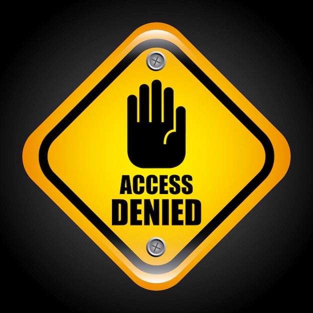 Access denied graphic design  vector illustration Free Vector