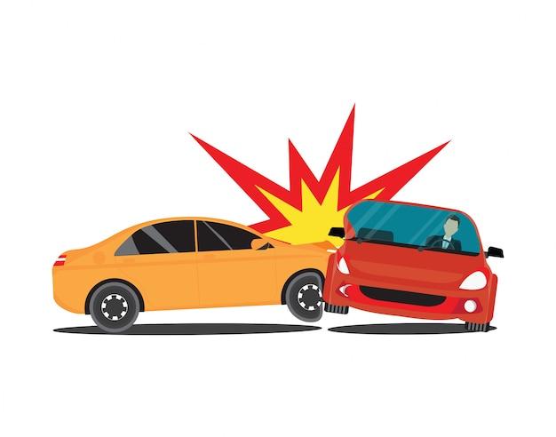 Accident cars Premium Vector