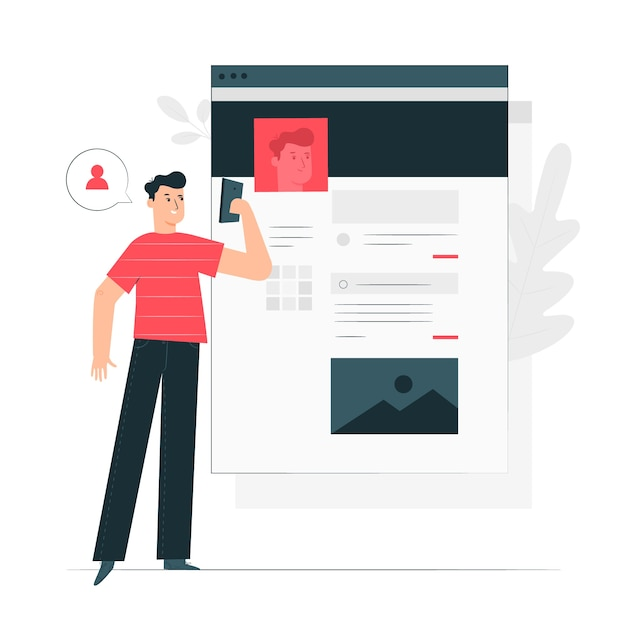 Account concept illustration Free Vector