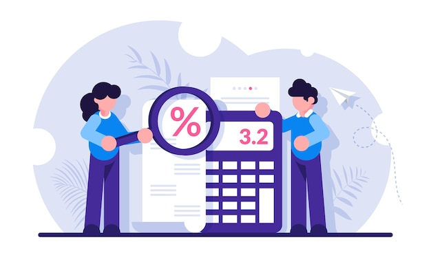 Бухгалтерские и аудиторские услуги для бизнеса, планирование бюджета, расчет доходов Premium векторы