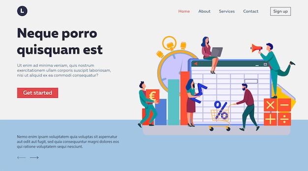 Accounting app  illustration Free Vector