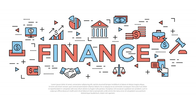 Accounting, banking finance icons Premium Vector