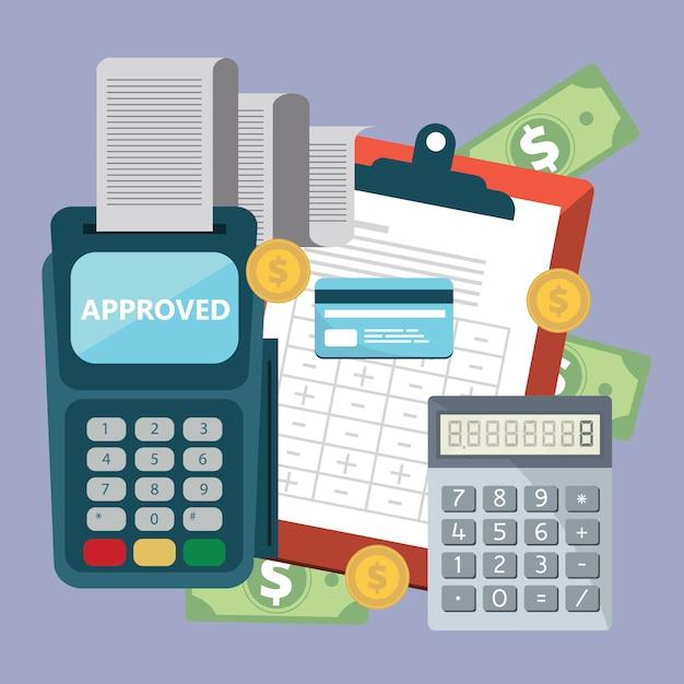 Accounting concept Premium Vector