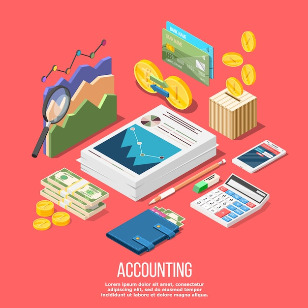 Accounting elements conceptual Free Vector