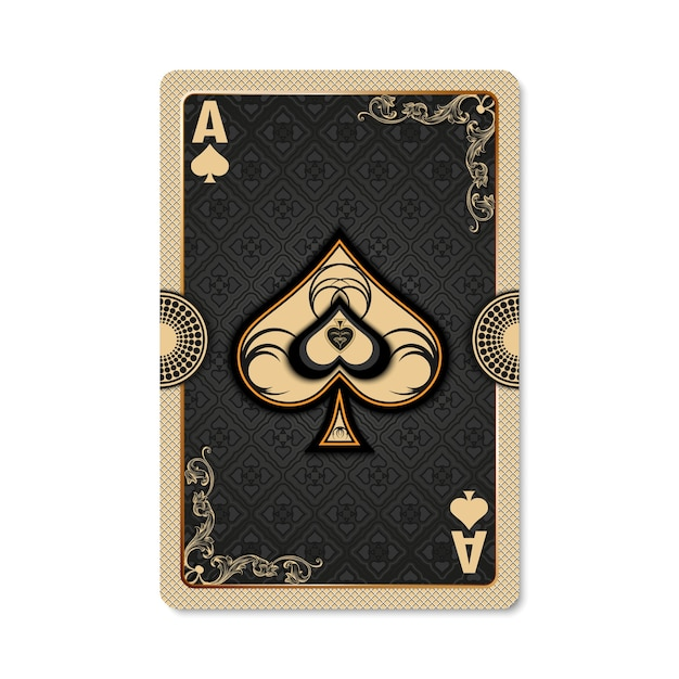 Ace of spades Premium Vector