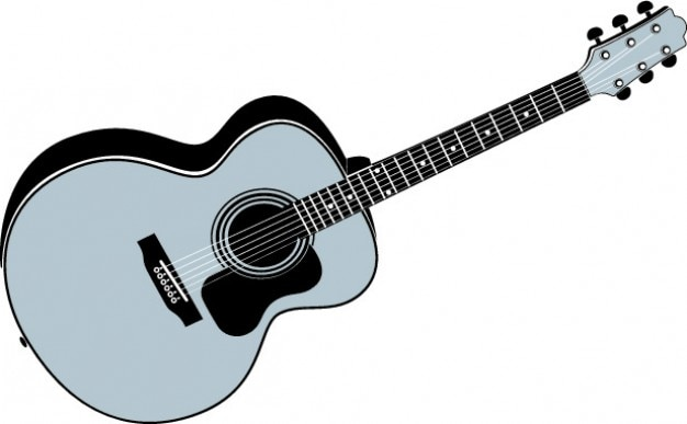 Acoustic guitar instrument Free Vector