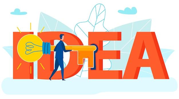 Acquiring license, rights, registered idea Premium Vector