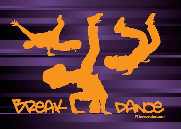 Acrobat Break dancing dancer body vector