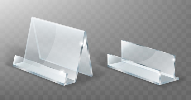 Acrylic holder, glass or plastic display stand Free Vector