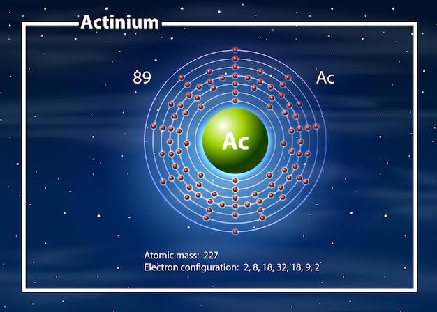 A actinium atom diagram Free Vector
