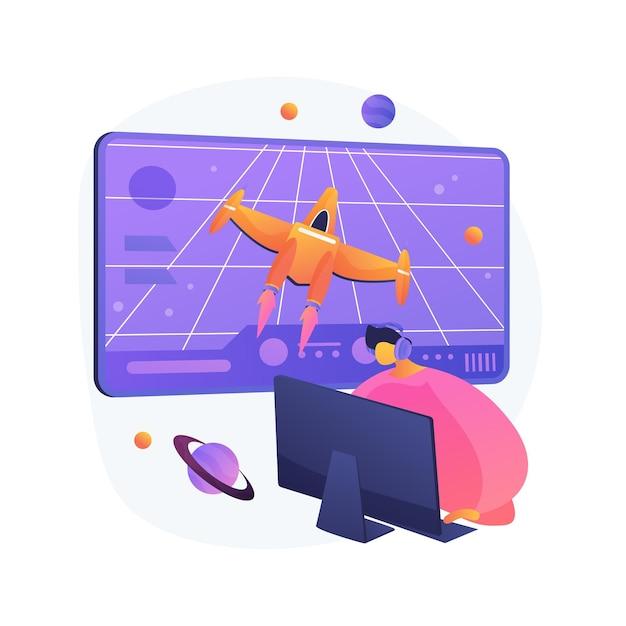 액션 게임 추상적 인 개념 그림 무료 벡터