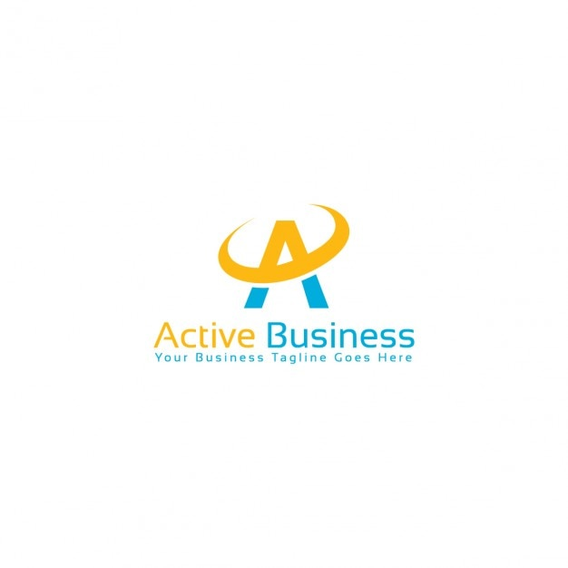 Active business logo template