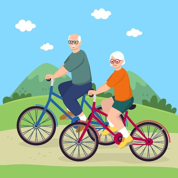 アクティブな高齢者の概念 Premiumベクター