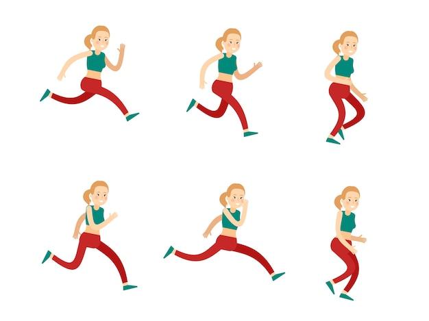 Active training woman set Free Vector