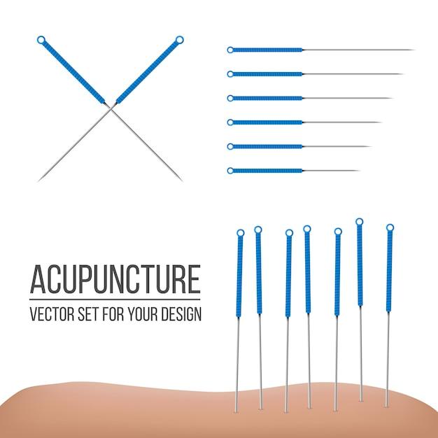 Acupuncture therapy Premium Vector