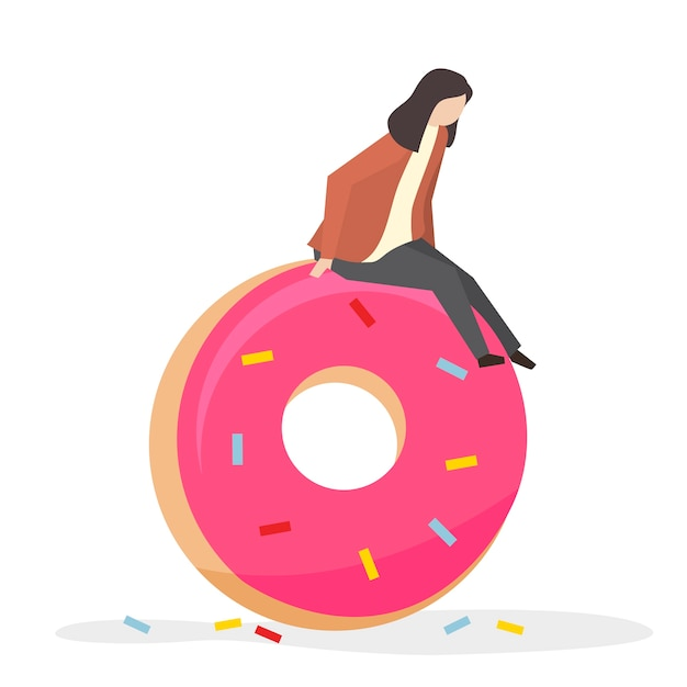 Addicted to sweets and sugar Free Vector