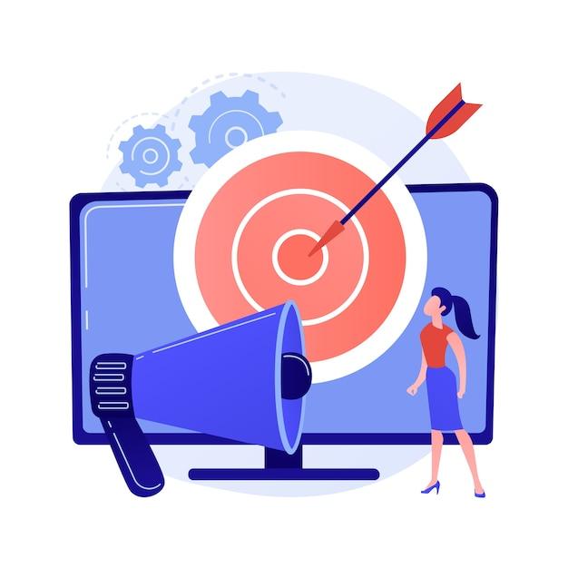 Адресная телевизионная реклама абстрактной концепции иллюстрации Бесплатные векторы