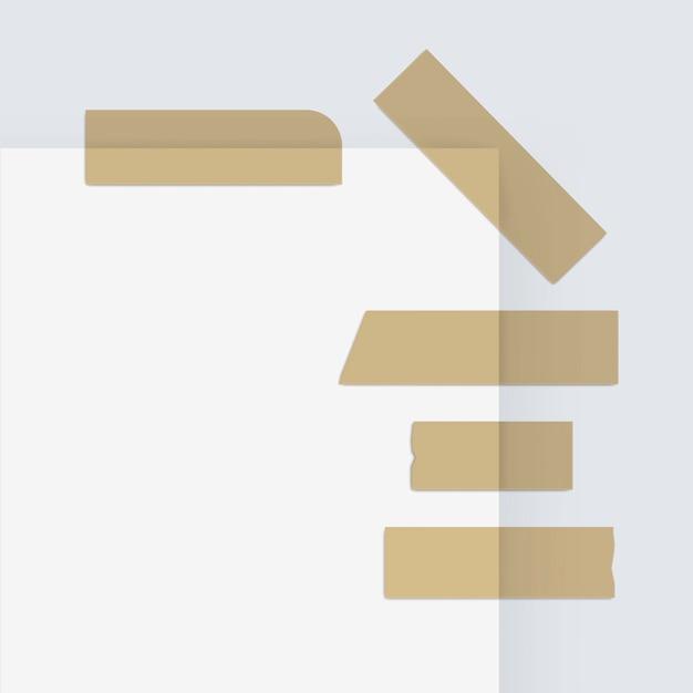 배경에 접착 마스킹 종이 스티커 스카치 스트립 테이프 프리미엄 벡터