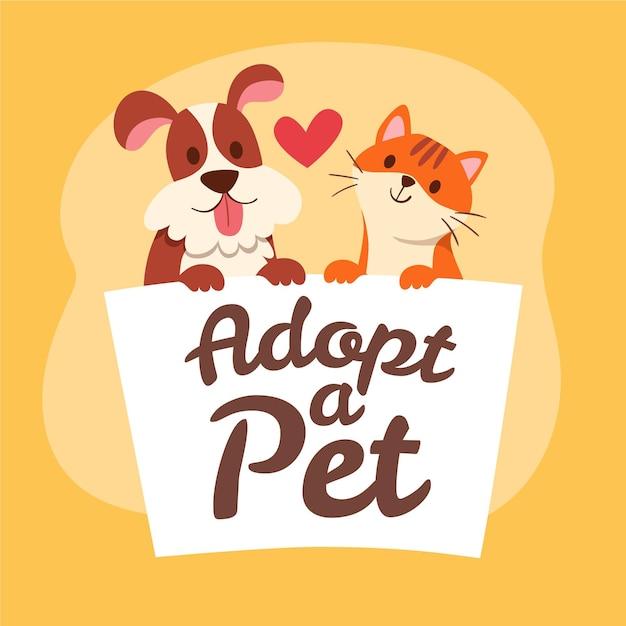 Adopt a pet concept Free Vector