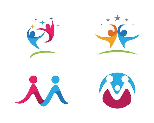 Adoption and community care logo Premium Vector