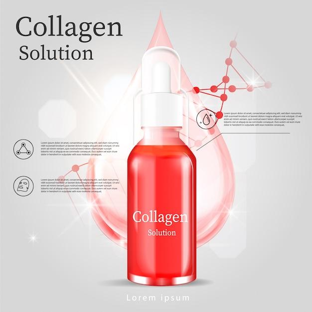 Ads red serum facial treatment Premium Vector