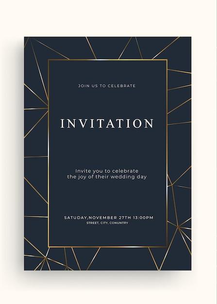 Advanced jin invitation Premium Vector