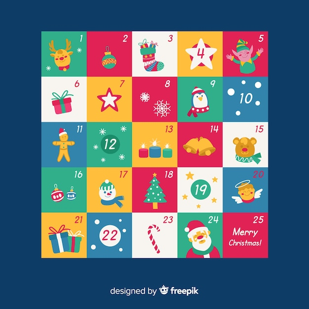 Advent calendar Free Vector