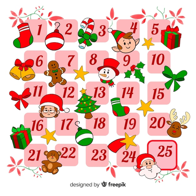 Advent calendar Free Vector